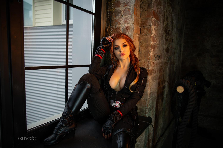 Nude Black Widow Cosplay - Kalinka Fox