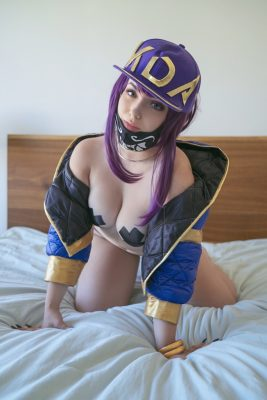 Nude KDA Akali Cosplay Collection